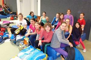 Matratzenlager in der Judohalle