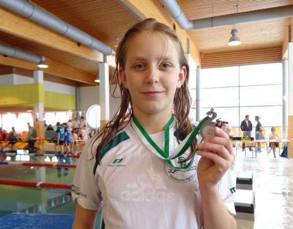 Grasser Marie mit der Silbermedaille