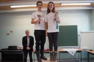 Vereinsmeister 2017 Benjamin Gardner-McTaggart+Vereinsmeisterin 2017 Julia Bäckenberger