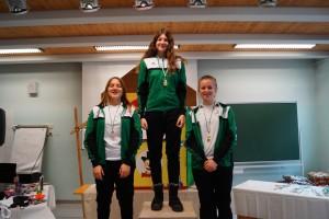 Jugend 2003/2004 w: 1.Elena Eugen 2.Preisl Veronika 3.Auer Magdalena
