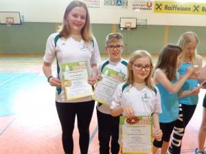 4.Platz Offene Klasse v.l.n.r.: Franziska Weiermair, Daniel Esser, Vivien Varga