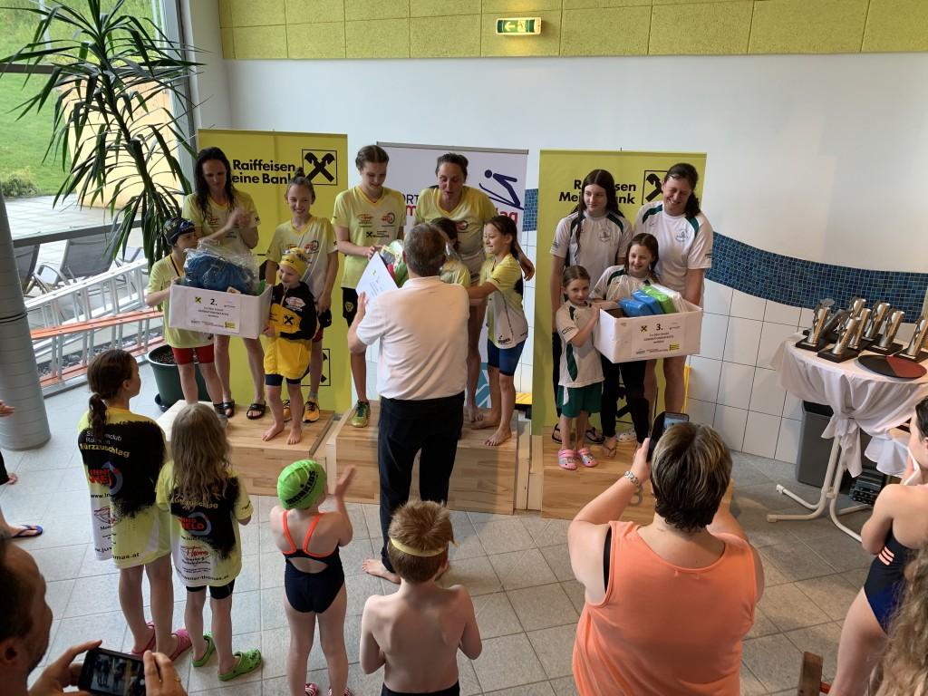 Trans-Semmering Meeting: Generationenstaffel 3.Platz mit Zsuzsanna Farkas, Lena Zeiler, Elena Eugen und Gertraud Weiermair (von klein nach groß)